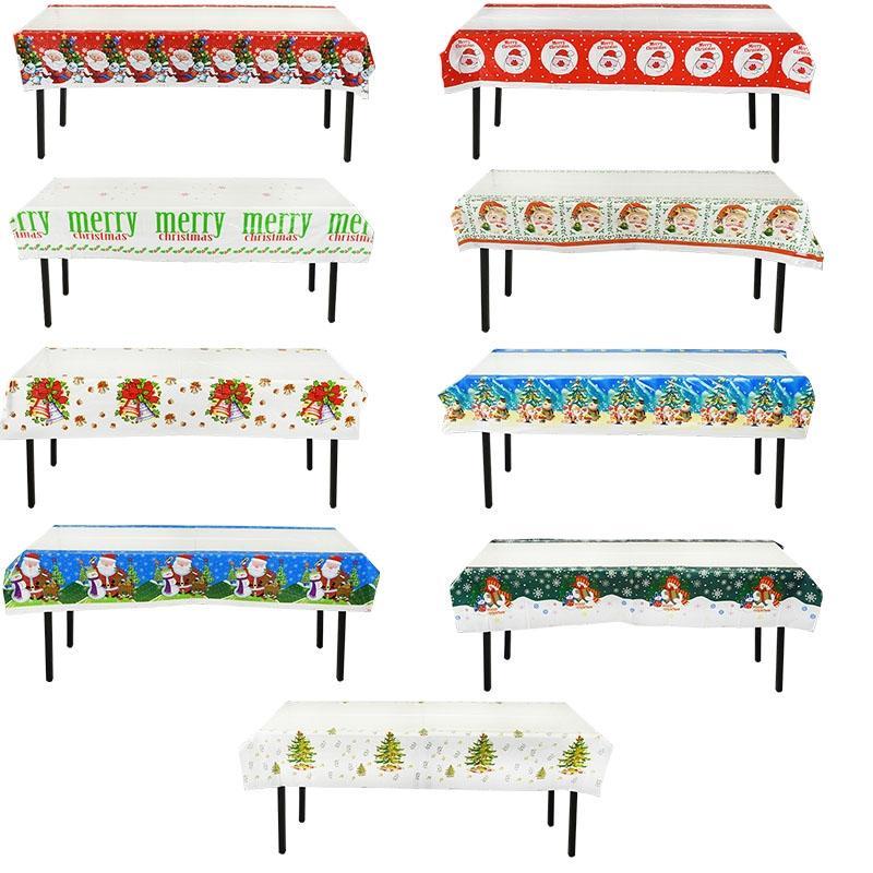 1PCS المتاح عيد الميلاد السنة الجديدة هالوين مستطيل مفرش للمنزل الطعام الجدول مكتب حزب زينة غطاء القماش الجدول