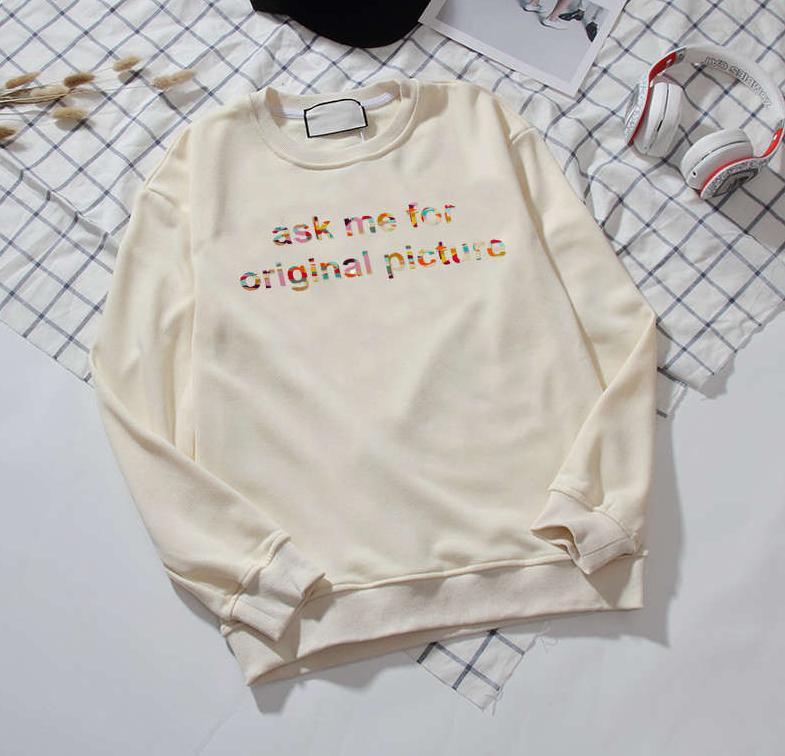 Дизайнер мужчины Hooody бренд Два цвета белый и черный с длинными рукавами круглый вырез мода высокое качество повседневная Мужчины Женщины весна осень капюшон