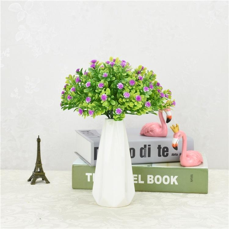 Single Branch Water Grass Gypsophila Paniculata Milan Fruit Simulation Grass Plant Green Jing Decoration Desktop Potted Plants Fake Flower
