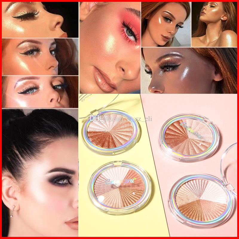 CmaaDu Cosmetics Face Makeup Highlighter Shimmer Highlightter Pressed Powder Bronzers Highlighters