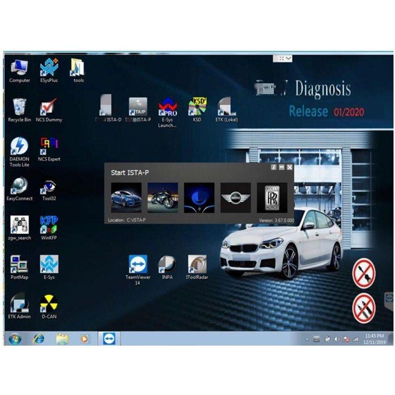 2020,01 para BMW ICOM A2 c b Software em 500GB HDD nativo Software para BMW ICOM ISTA / D (4,20) ISTA / P (3,67)
