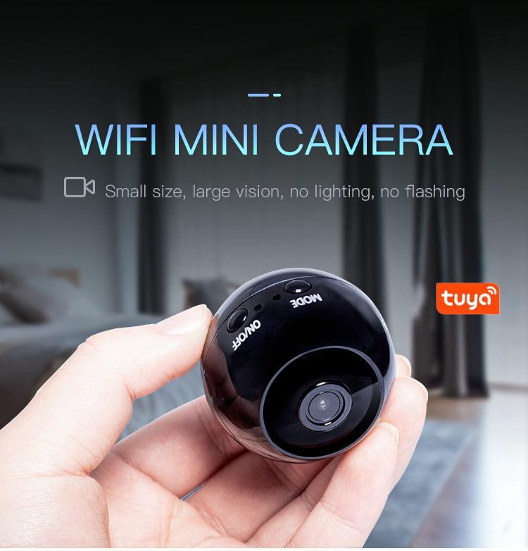 1080p WIFI MINI CAMERA SALIDA INICIO P2P IP Cámara IP HD Visión nocturna Vida inalámbrica Video Cámara de video Soporte Monitor remoto Aplicación de teléfono Viewi