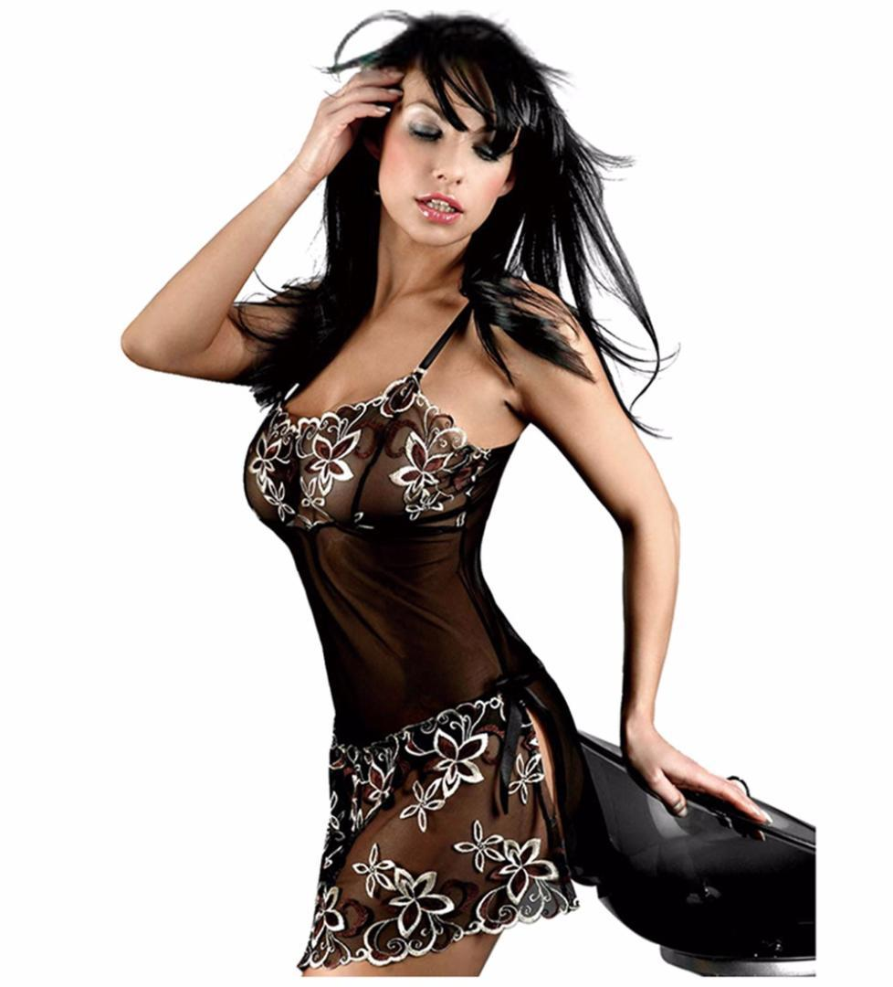 S-6XL New Women Sexy Plus Size Lingerie See Through Slips Embroidery Nightwear Party Vestidos Temptation Intimates