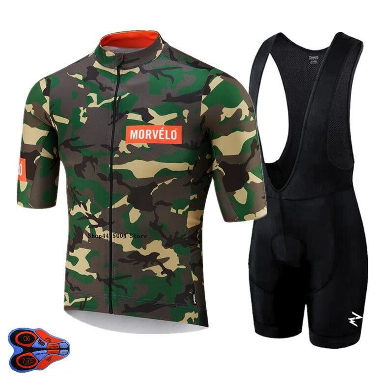 2020 Morvelo Estate In bicicletta Jersey Bib Set Mountain Bike MTB abbigliamento vestiti di usura della bicicletta Maillot Ropa Ciclismo Uomini Ciclismo Set