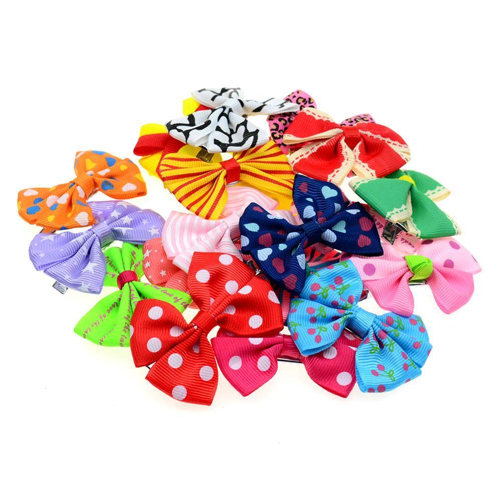 10 PC / Solid Bandas elásticas del pelo Pajaritas Plain chicas de color de los niños Accesorios PT025