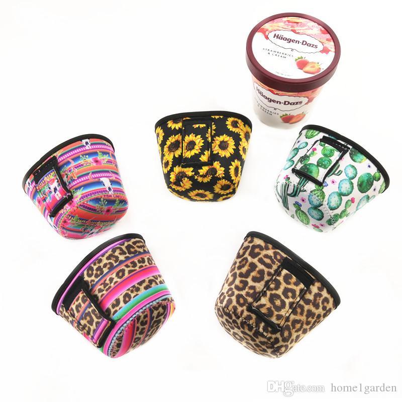 Neopren Dondurma Kapak Kılıf Leopar, Ayçiçeği, Cactus Can Cooler Dondurma Tutucu Kılıfı Araçlar Kapaklar yazdır
