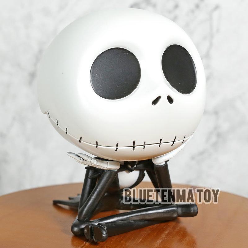 The Nightmare Before Jack Natale Carino Jack Skellington Tasto Azione Box PVC Figure da collezione Toy Model T200106