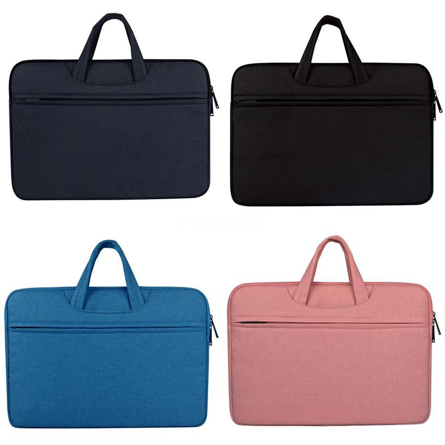 Pelle Marca sacchetto per Macbook Air Bag per Lenovo donne spalla Laptop Bag 13,3 14 15 15,6 pollici Uomini impermeabile # 278