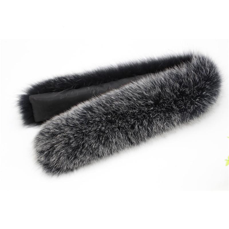100% Natural Genuino Bufandas de Piel de Zorro Accesorios de cuello Collares de Piel de Zorro Femenino Collar de Piel de Zorro de Bufanda Mujeres 70 CM