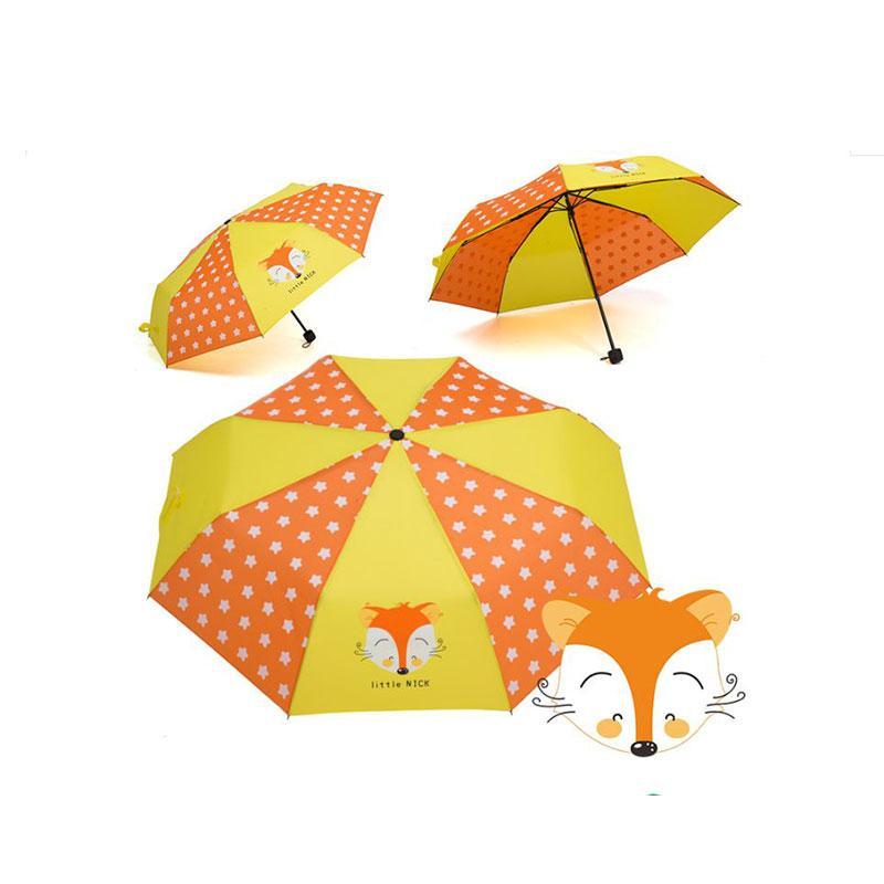 Ombrello per bambini di alta qualità Divertente antivento Protezione solare impermeabile Molti motivi animali Parasole pieghevole Regalo preferito per bambini