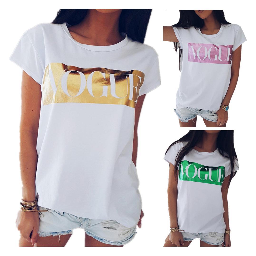 Donne del progettista magliette Summer Fashion Short Sleeve Tee Tops Womens Lady Marca Lettera t-shirt stampate donne di lusso di fascia alta