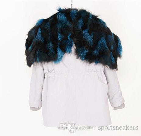 Nouvelle arrivée Wings of Angel Femme d'hiver en vrac hiver midi Parkas longs épais doublure en fourrure de renard détachable