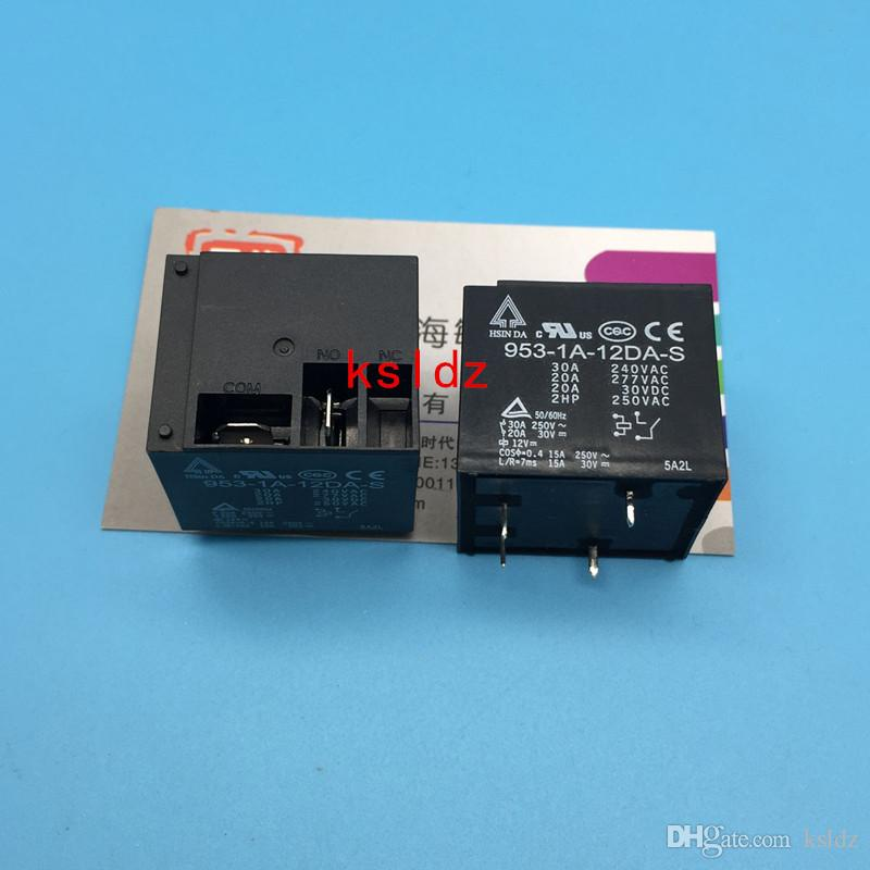 Freies Verschiffenlos (5pieces / lot) 100% ursprüngliches neues 953-1A-12DA-S 953-1A-24DA-S 4PINS 30A 12VDC 24VDC Leistungsrelais