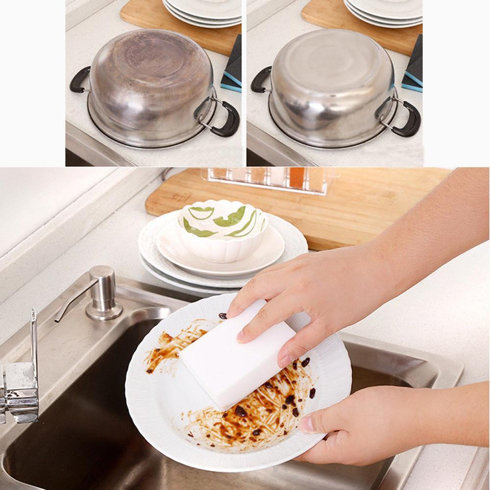 100 * 60 * 20 milímetros Branco melamina Magia esponja esponja Eraser Para Cozinha Escritório Clean Bathroom Acessório / Dish limpeza Nano F4