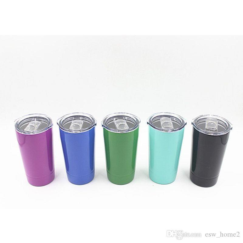 occhiali vuoto isolato doppia dell'acciaio inossidabile Tumbler 12 once 20 once di vino con coperchio Kid tazza di caffè Tazze Bicchieri di vino
