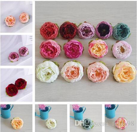 Artificiali fiori di seta Peony delle teste di fiore del partito della casa di nozze accessori per la decorazione di simulazione falso Capolino fai da te Garland parete Archway