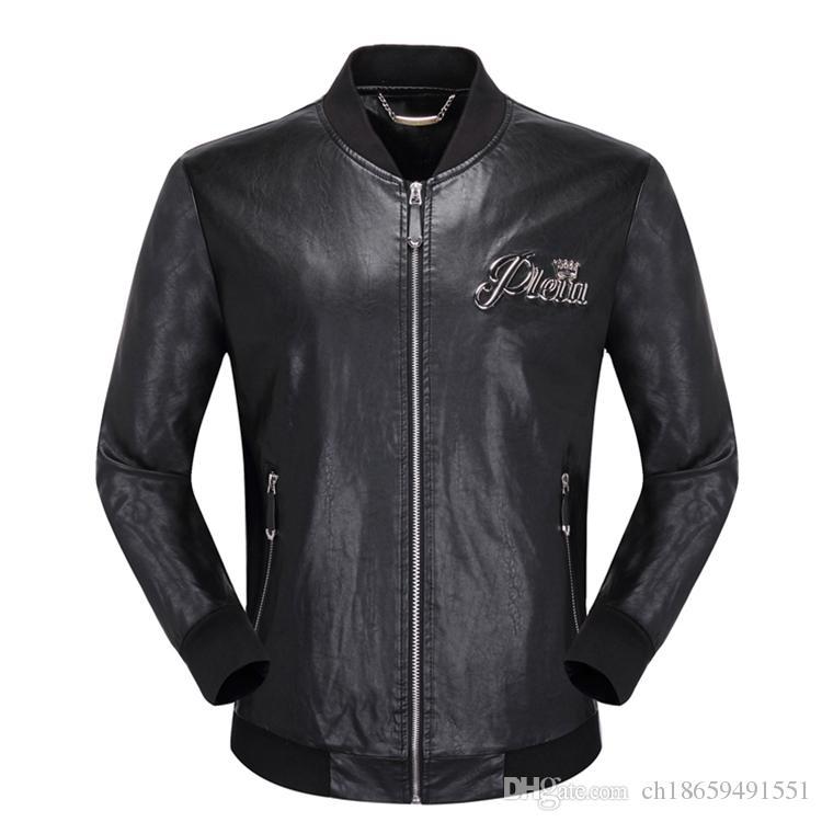HOT designer marque P hommes crânes Faux En Cuir veste hip hop luxe Fitness vêtements Casual manteau Haute Qualité mens mode Asie Taille M-3XL