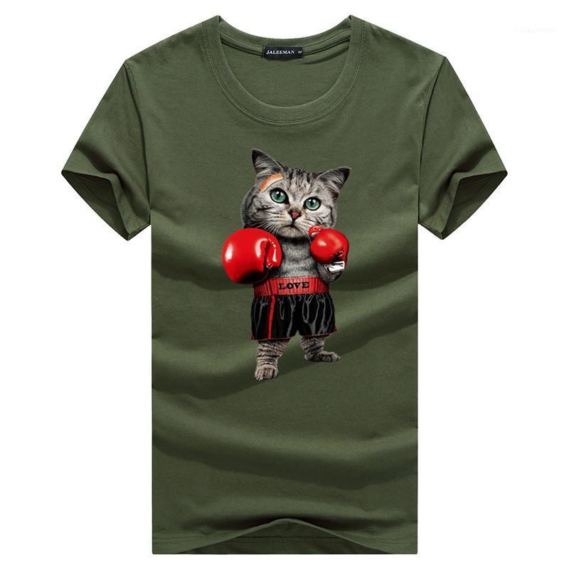 Shirt Hommes Hip Hop Streetwear shirt hommes T-shirt 2020 Nouveau été Temps libre T-shirt des hommes de boxe Chat T-shirts drôle d'impression