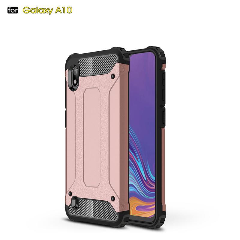 Luxus Stoßfestes Silikon Stoß- Telefon-Kasten für Samsung A10 unverwüstliche Rüstungs Dual Layer Abdeckungs-Fall