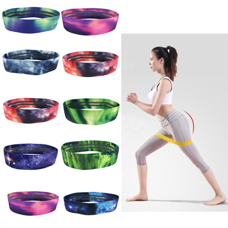 2pcs Yoga Resistance Loop Exercise Rubber Bands Indoor Outdoor Fitness Equipment Pilates Sport Training Workout Elastic Band JG3