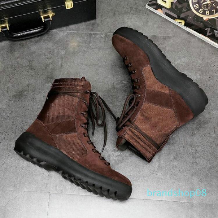 Yeni kaliteli KANYE marka yüksek çizmeler Tanrı askeri spor ayakkabısı Hight Ordu Boots kadın ve erkek moda ayakkabıları Martin botları c2 Best of