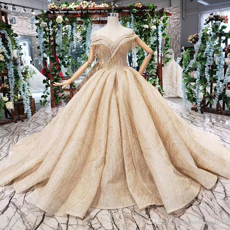 2019 Latest Lebanon Evening Dresses Sexy Tassel Sweetheart Neck Short Sleeve Backless Lace Up Back Sequins Pearl Pattern Formal Prom Gowns