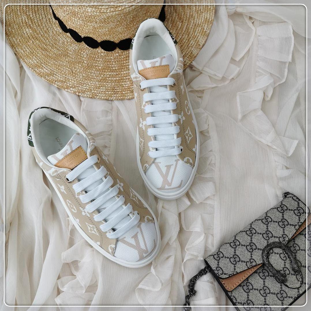 2019 de alta qualidade novas senhoras luxuosos sapatos casuais, material de couro, senhoras viagens de lazer rendas caixa de embalagem original de entrega rápida ao ar livre