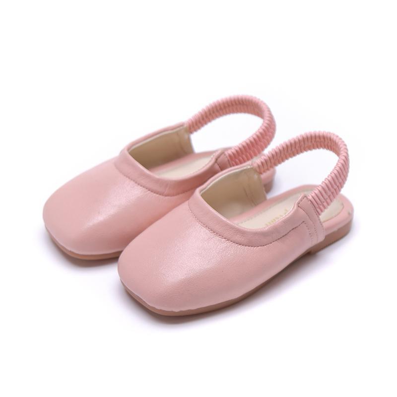 أحذية جلدية بنات سبنج الخريف الصلبة الرضع اللون مطاطا باند أطفال بنات شقة أحذية طفلة أحذية 4 ألوان SGF079
