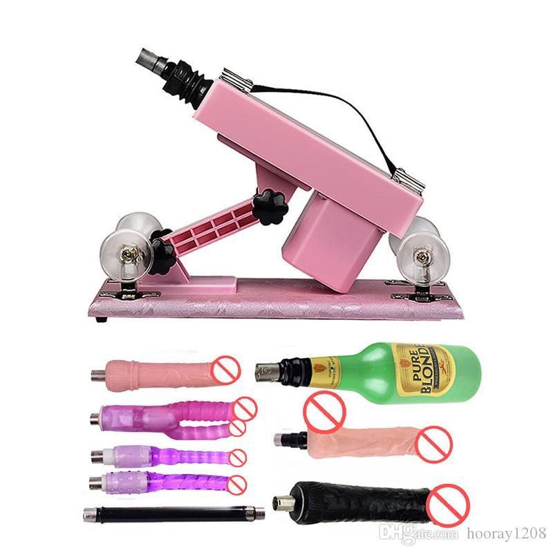 Seks Oyuncak Makineli Tüfek Adam Kadın Için Otomatik Aşk Makineleri ile Mastürbasyon Kupası ve Dildos Seks Lanet Cihazı