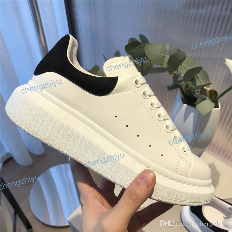 2020 Hochzeit Plattform Fashion Party Männer Frauen Schuhe Leder Velvet Schwarz Weiß Rot flache beiläufige Turnschuh-Plattform Turnschuhe Size35-46 mit dem Kasten