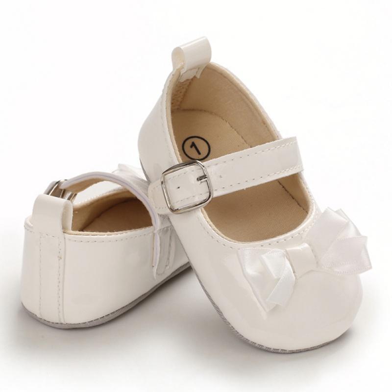 El bebé recién nacido Zapatos de las muchachas 2020 del niño infantil de oro rosa bebés zapato para caminar Bowknot de los bebés de Shoes1