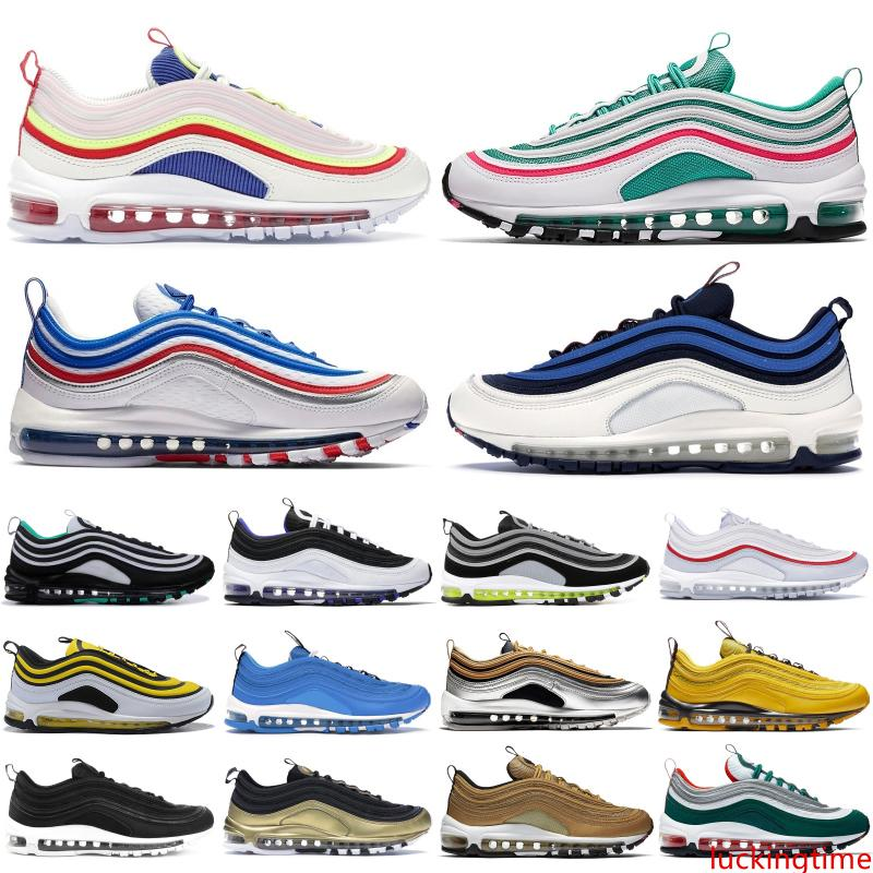 Top OG Mens Running Shoes Neon Seoul South Beach Throwback Future Iridescent Triple White Black Silver Bullet Women Sports Sneakers