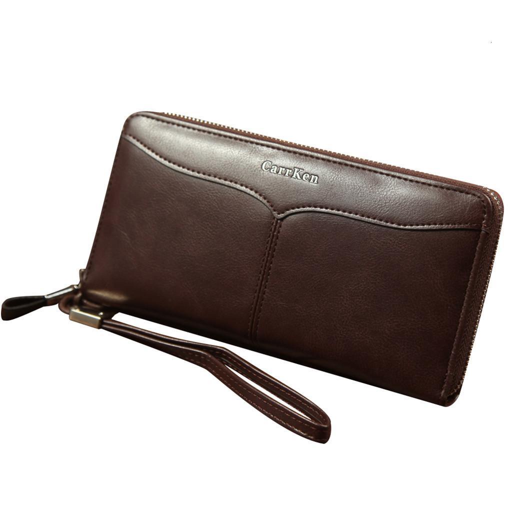 Brown Genuine Leather Men/'s Wallet Zipper Bifold Card Holder Elegant Gift