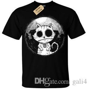 Zombie Cat Mens T-Shirt goth roNew burton halloween spooky undead kitty nightmare