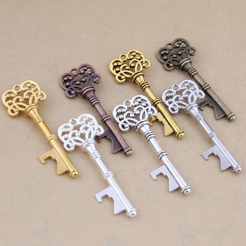 Key Design Keychain Alloy Edc Bottle Opener Men Women Bag Pendant Silvery Gold Party Gifts Practical 0 9sm C1
