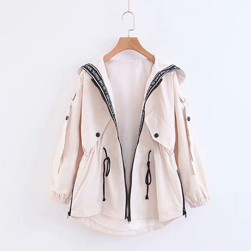 Women Jacket New Arrival 2020 Autumn Windbreaker Classicla Style Fashion Simple Trend Size : S-2XL 4-Color
