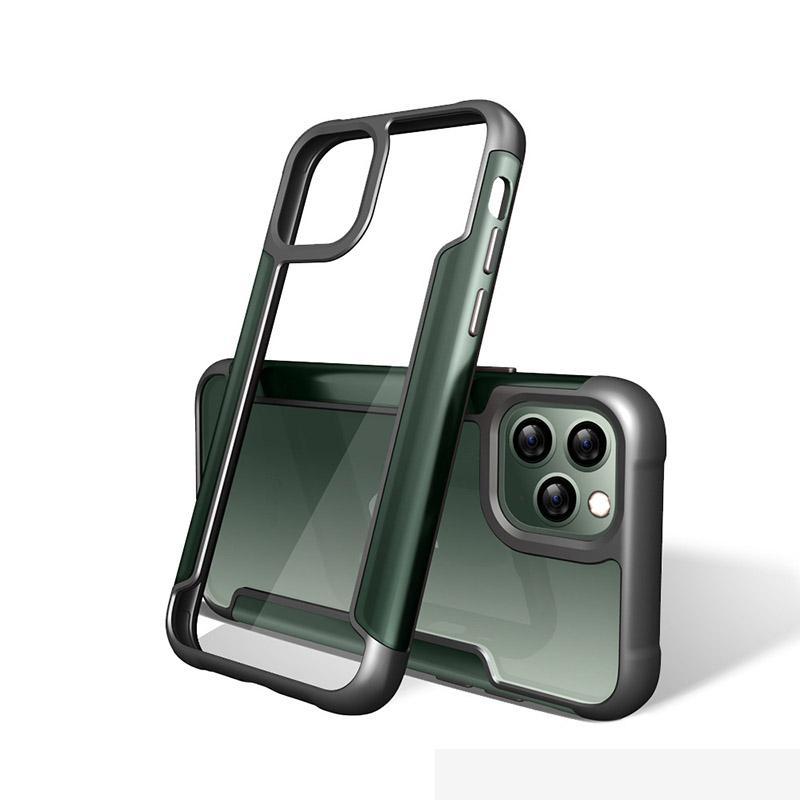 아이폰 11 SE 삼성 노트에 대한 충격 방지 휴대폰 케이스 소프트 TPU 범퍼 지우기 하드 PC의 후면 커버 (10) A20 A30 A50