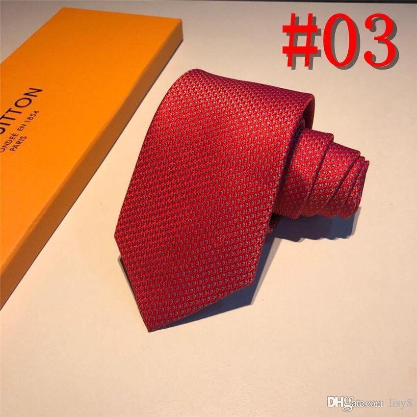 19SS Mode-Marken-Männer Krawatten Silk Bindung der Männer Krawatten Handgemachte Hochzeit Brief Krawatte 4 Style Designer-Geschäfts-Krawatten L5