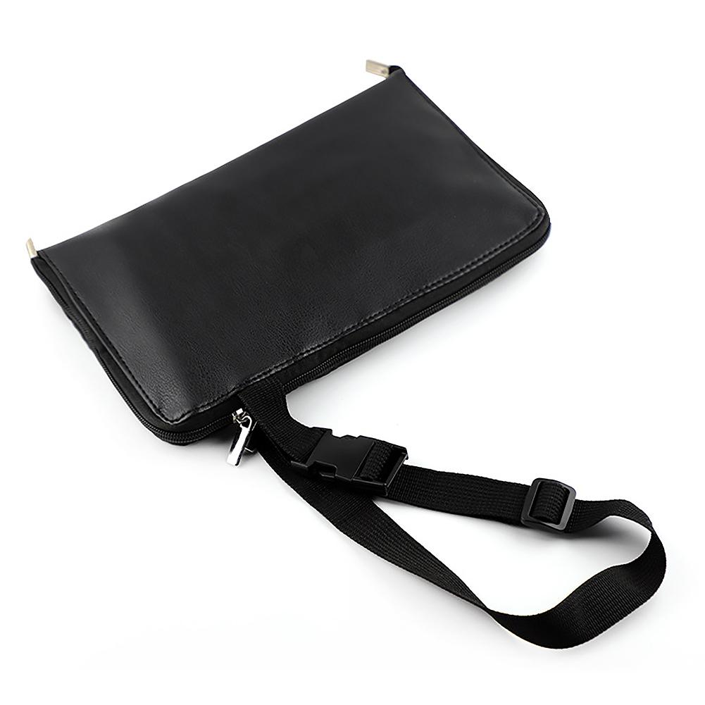 28 Pockets With Belt Strap Holder Zipper Closure PU Leather Home Use Apron Type Professional Foldable Makeup Brush Bag Cosmetic