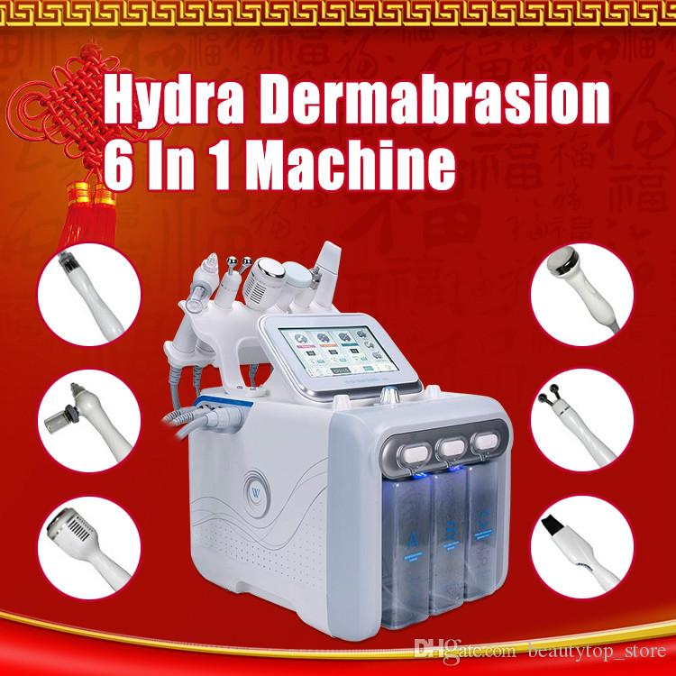 2019 Salon Want 6 in1 Hydra Facial Dermabrasion Dermabrasion Spray with RF Bio Lifting Spa facial / Hydro Microdermabrasion