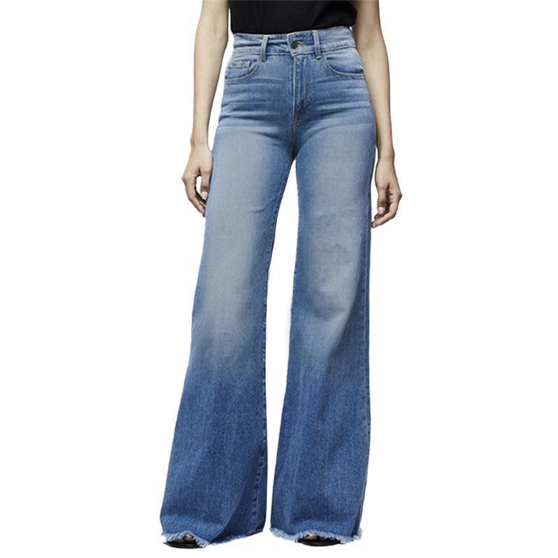 Shujin Yüksek Bel Geniş Bacak Jeans Marka Kadınlar Boyfriend Jeans Denim Skinny Kadının Vintage Flare Artı boyutu 4XL Pant