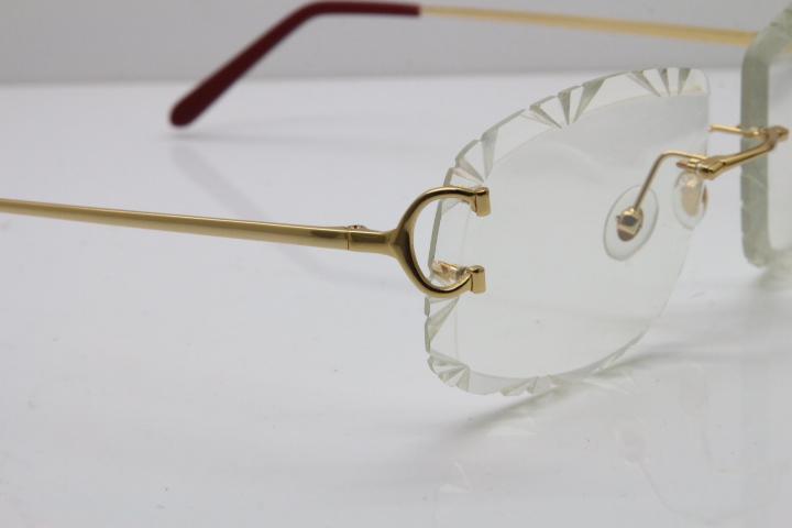 Atacado-Hardware Óculos T8200762 Novos homens Lens, esculpida em vidro quente Optical aro Carter Eyewear fulineye