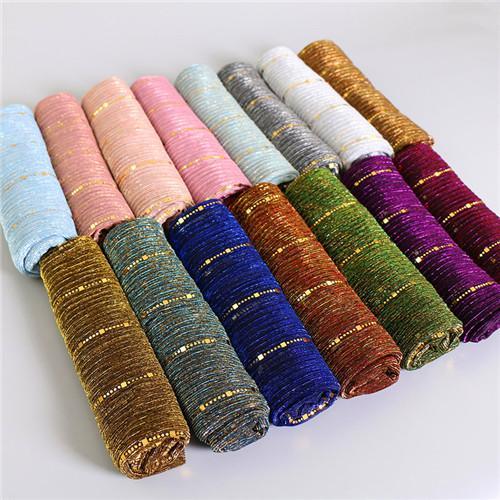 El amor te amo estilo caliente de la bufanda de seda lámpara de mecha de lentejuelas de velo islámico nuevas mujeres pañuelo una venta directa del fabricante OEM