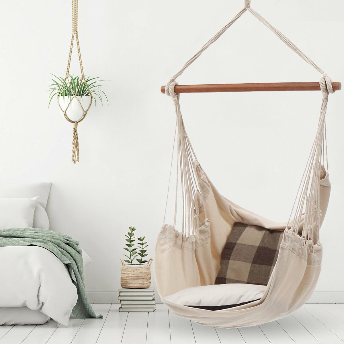 2020 Nordic Style White Hammock Outdoor Indoor Garden Dormitory