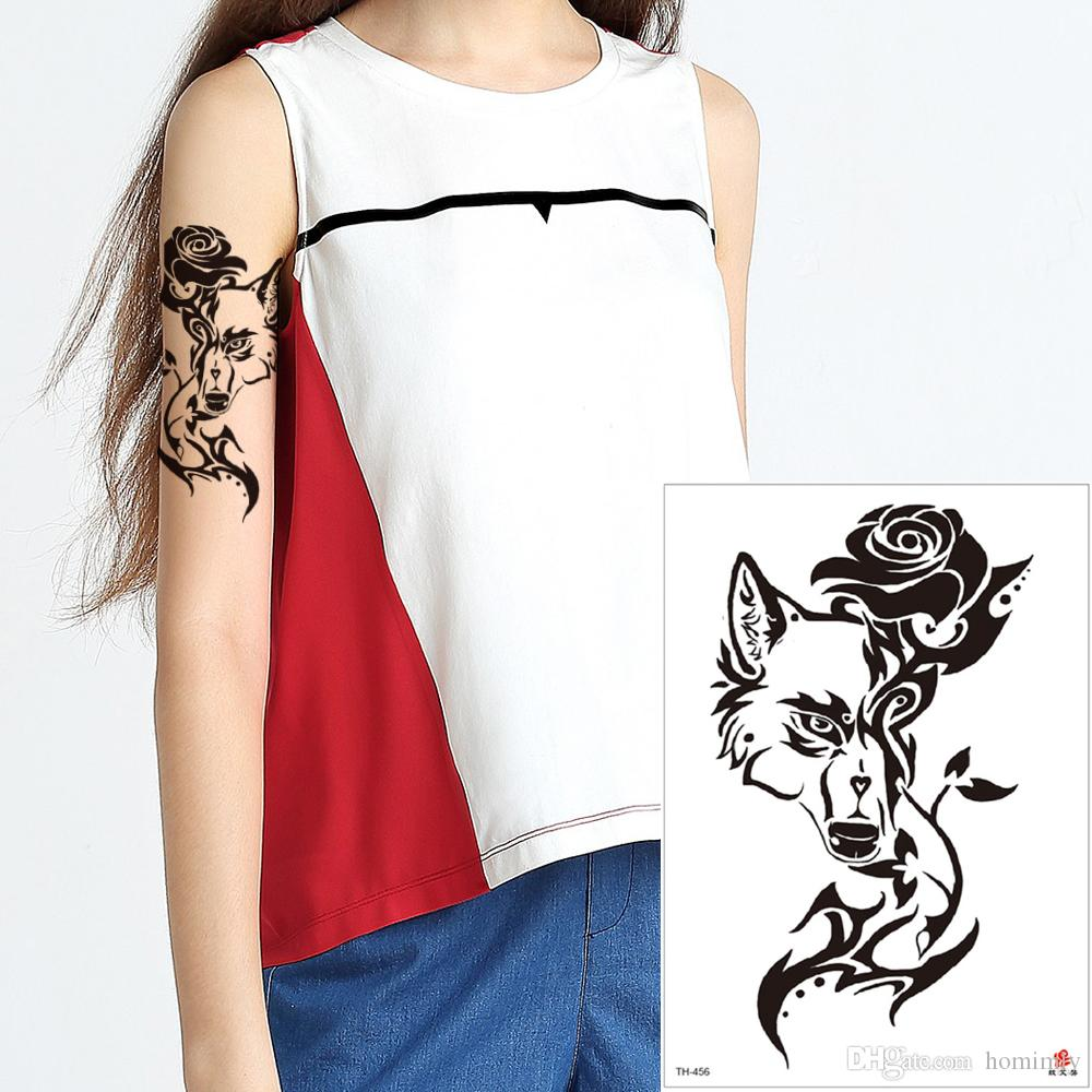 Personalize Waterproof Temporary Wolf Tattoo Decal Body Art Leg Arm Animal Tattoo Sticker Transfer Paper For Adult Makeup Tool Jewelry Gifts Temporary Tattoos Wiki Art Temporary Tattoos From Homimly 0 71 Dhgate Com
