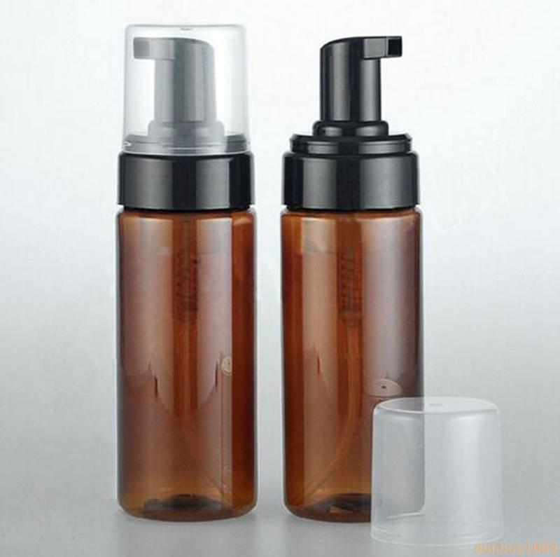 150ml Bouteille vide Moussant Ambre en plastique Distributeur de savon Container 3OZ lotion mousse mousse de savon Dispense Flacon pompe # 2324