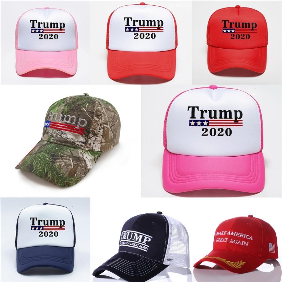 500 1PCS Donald Trump 2020 Beyzbol şapkası Nakış tutun Amerika Büyük Şapka Cumhuriyetçi Başkan Trump 658 R353 # Caps