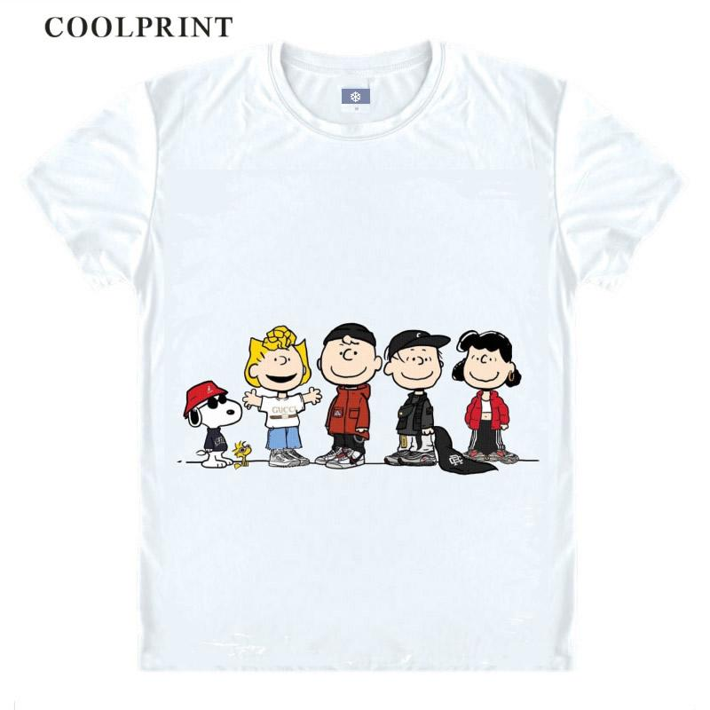 PEANUTS Anime T Shirt Woodstock Little Yellow Birds Charlie Brown Anime Cosplay Custom Shirt Tank Top Vintage Printed Tee-Style562-NO17