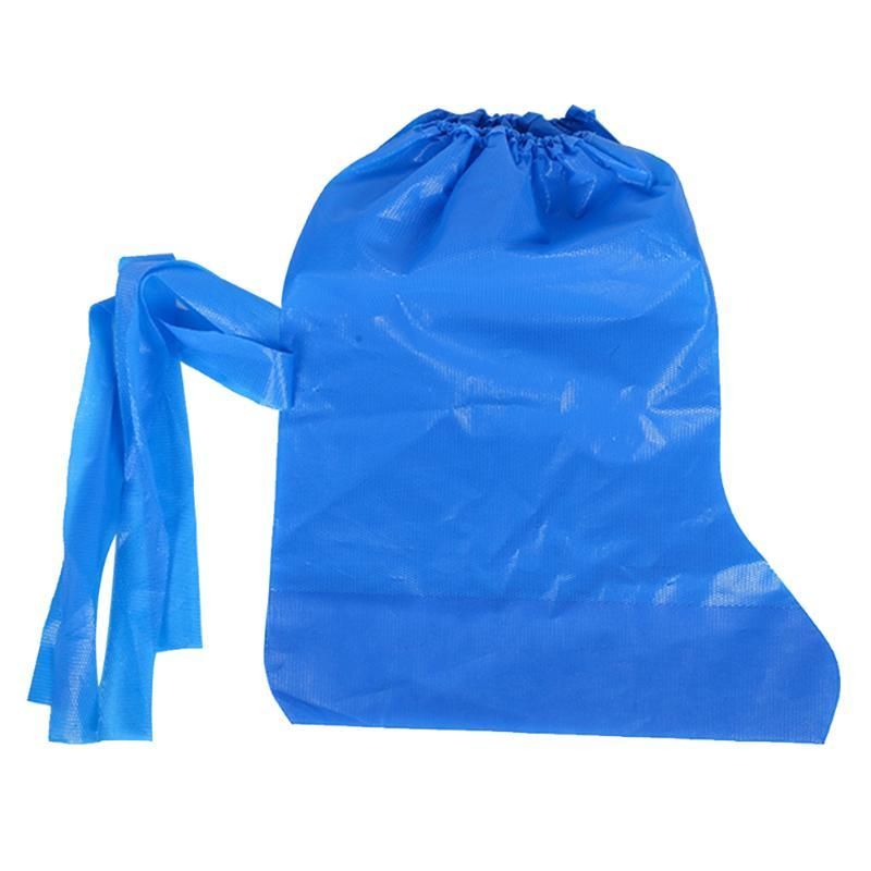 1 par protector de pantorrilla impermeable ciclismo portátil antideslizante impermeable a prueba de polvo al aire libre de alta superior desechable zapato cubre arranque PE