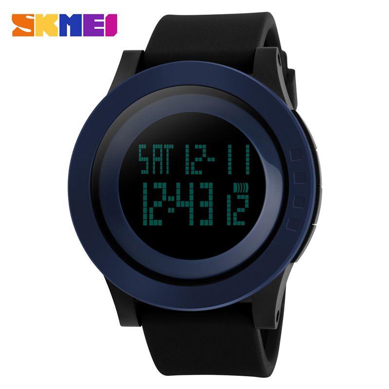 Großhandel Digital-Sport-Uhr-Mann-Chronograph EL-Licht-Männer Armbanduhr Datum 12/24 Stunden Wecker Man relogio masculino 1142